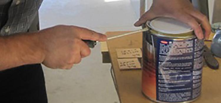Comment rouvrir un pot de peinture ou de vernis entamé?